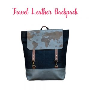 Backpack_Gift_Ideas_TheSassyPilgrim_Travel_Theme_Gifts_Leather_Backpack_World_Map_Blog_Blogger